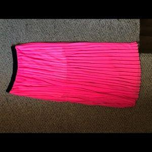 Hot Pink sheer skirt